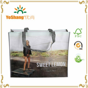 Custom Promotional Bag Pet Nonwoven Tote Bag with Heat Transfer Printing pictures & photos