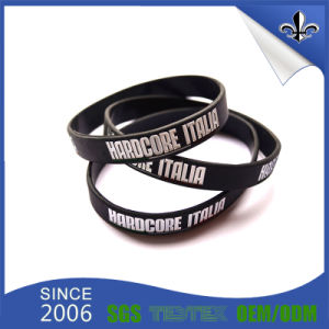 Factory Direct Sale Concave Silicone Rubber Band Silicon Bracelet pictures & photos