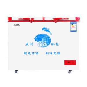 New Type Double Temperature Top Open Double Doors Freezer pictures & photos