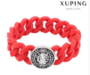 Fashion Cool Red Stainless Steel Rubz Arabia Bangle with Silicone pictures & photos