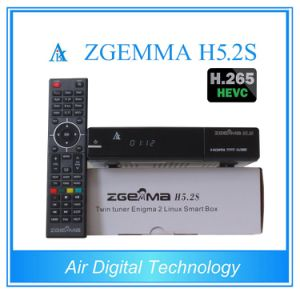 New Best Hbbtv Combo Box Zgemma H5.2s Dual Core Linux OS E2 DVB-S2+S2 Twin Tuners with Hevc/H. 265 pictures & photos