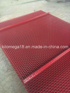 High Carbon Steel Crimped Screen Mesh with Red Color pictures & photos