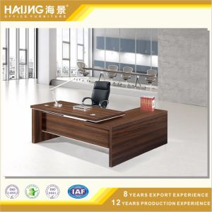 Modern Office Furniture MFC L-Shape Table in Wood