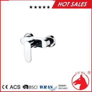 New Design Brass Chrome Plated Bathroom Show Mixer (ZS40502)