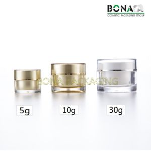 2017 Hot Sale Mini Golden Acrylic Clear Cream Jar for Gift pictures & photos
