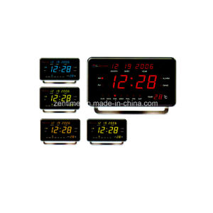 Electric LED Digital Calendar and Temperature Display Alarm Clock pictures & photos