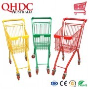 20L Personal Shopping Trolleys Supermarket Children Size Hand Cart Kids Trolley for Big Retail Store