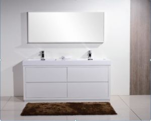 Two Bathroom Basins Cabinet (white) Hot Sale pictures & photos