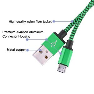 Wholesale 1m Colorful Nylon USB Data Cable for iPhone 5/6 /7 pictures & photos