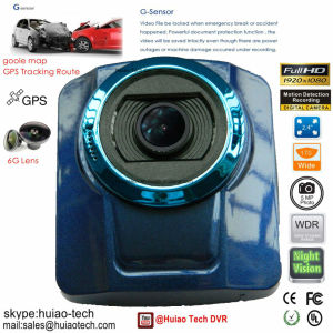 "New 2.4"" HD1080p Adas GPS Tracking Route Car DVR Built-in GPS Receiver,G-Sensor,2.4G WiFi for Mobile Smart Device by Android & iPhone Ios APP,5.0mega Dash Camer pictures & photos"