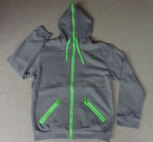 Boy′s 65% Cotton 35% Polyester Zip Open Hoodie (19002) pictures & photos
