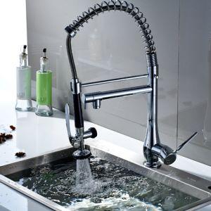 FLG Chrome Faucet Kitchen Basin Taps Dual Spray Single Handle pictures & photos