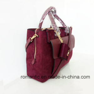 Fashion Designer Lady Suede PU Leather Briefcase (NMDK-051603) pictures & photos