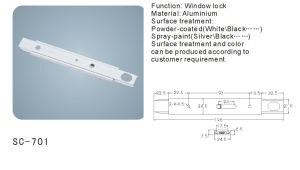 Aluminium Sliding Window Lock (SC-701) pictures & photos