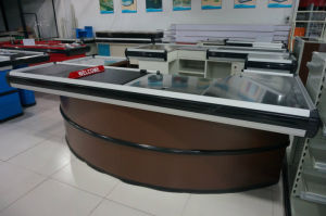 Hot Design Cash Checkout Counter for Supermarket Shop pictures & photos