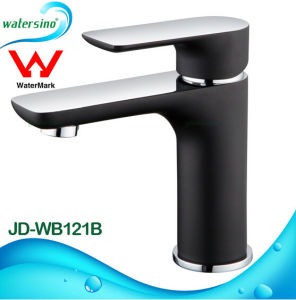 Guangzhou Manufacturer Watermark Black & Chrome Brass Wash Basin Mixer Tapware pictures & photos