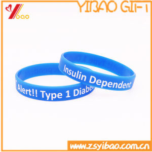 Customized Fashion Rubber Silicone Wristband for Promotion Gift (YB-w-005) pictures & photos