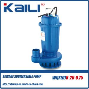 WQX Waste Water Submersible Sewerage Pump Sewage Suction Pump pictures & photos