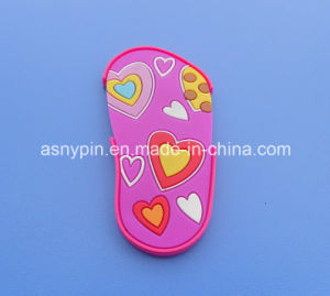 Hotsale Cute Colorful Personalized Slipper Shaped PVC Fridge Magnet for Decoration pictures & photos