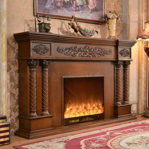European Sculpture LED Lights 3D Effects Heating Electric Fireplace (320B) pictures & photos