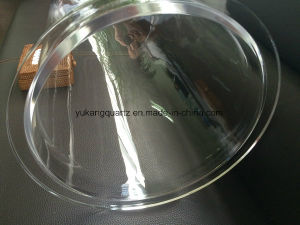 High Purity Clear Quartz Tubes Od318mm with Round Bottom Closed and Flange Joint pictures & photos