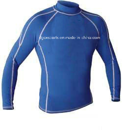 High Elastic Lycra Rash Guard for Man pictures & photos