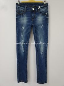 Ripped Skinny Jeans (121-G305) pictures & photos