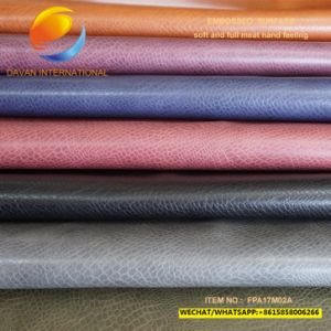 Top Selling Synthetic Leather of Bag with Embossed Surface Fpa17m02A pictures & photos