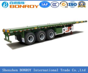 3 Axle 40FT Flat Bed Container Semi Trailer pictures & photos