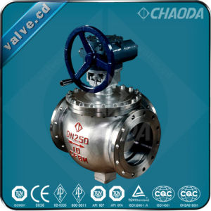 Cast Steel L Type Three Way Ball Valve pictures & photos