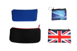 Customized PU Fabric Pencil Bag/Case with Zipper pictures & photos