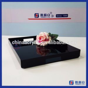 2017 New Design Black Acrylic Serving Tray for Sale pictures & photos
