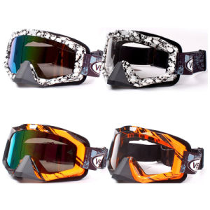 Ski Goggles/Motorcycle Helmet Goggles with Different Color Lens (AG008) pictures & photos