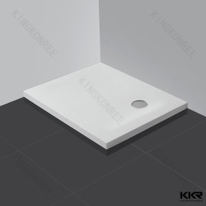 White Square Solid Surface Stone Resin Shower Base pictures & photos