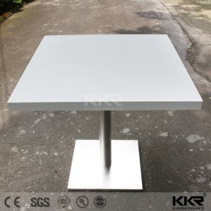 Restaurant Furniture Material Solid Surface Coffee Shop Table with Chairs pictures & photos