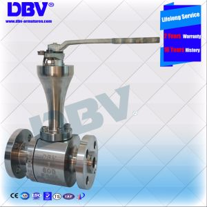 Lever Stellite Metal Seated Industrial Cryogenic CF8m Forged Ball Valve