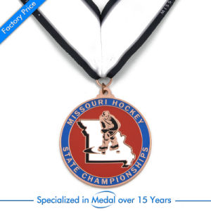 Brass Hockey Sports Metal Medal with Lanyard pictures & photos
