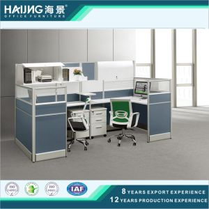 Popular Design Call Center Workstation in Brown pictures & photos