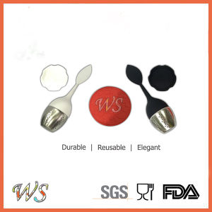 Ws-If046 Tea Infuser Loose Leaf Tea Tool Set Stainless Steel Ball Silicone Handle pictures & photos