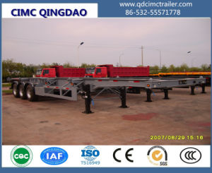Cimc Small Gooseneck Type Container Semi Trailer Truck Chassis pictures & photos