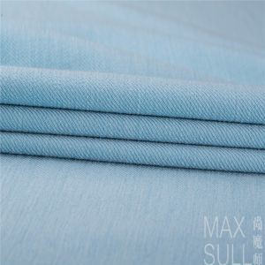 Good Elasticity Wool and Lycra Fabrics in Light Blue pictures & photos