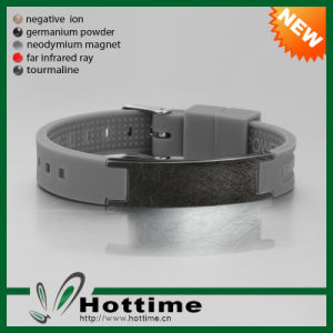 Personality Scalar Energy Wristband with Scratch Stainless Steel Design (CP-JS-GM-001-5) pictures & photos