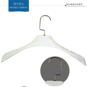 Wholsale Custom No Slip White Display Plastic Coat Hangers pictures & photos