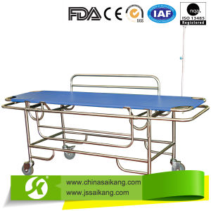Patient Transfer Trolley with Stainless Steel Guardrail pictures & photos