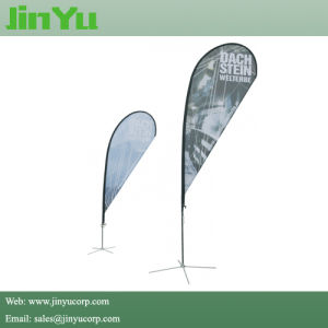 4.3m Aluminum Fiberglass Teardrop Flying Flag Banner Pole pictures & photos