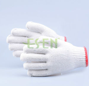 Cotton knitted Gloves for Construction Worker pictures & photos