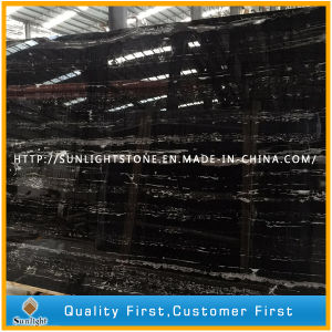 Chinese Black Silver Dragon Marble Slab for Countertops, Table-Tops, Floor Tiles pictures & photos