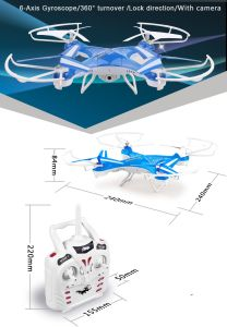 Hot Sell Remote Control Helicopter 2.4G 4CH Drone with HD Camera