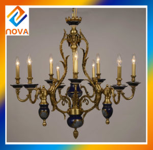 Vintage Bronze Candle Chandelier Lamp ceiling Light with Antique Fashion Design pictures & photos
