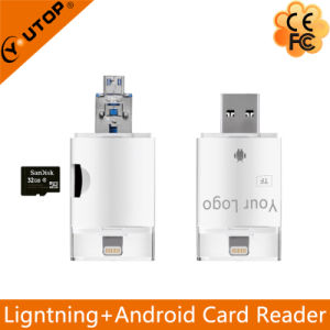 Microsd (TF) OTG Card Reader for Lightning iPhone iPad iPod Android (YT-R002) pictures & photos